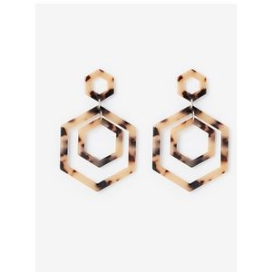 EXPRESS earrings resin hoops